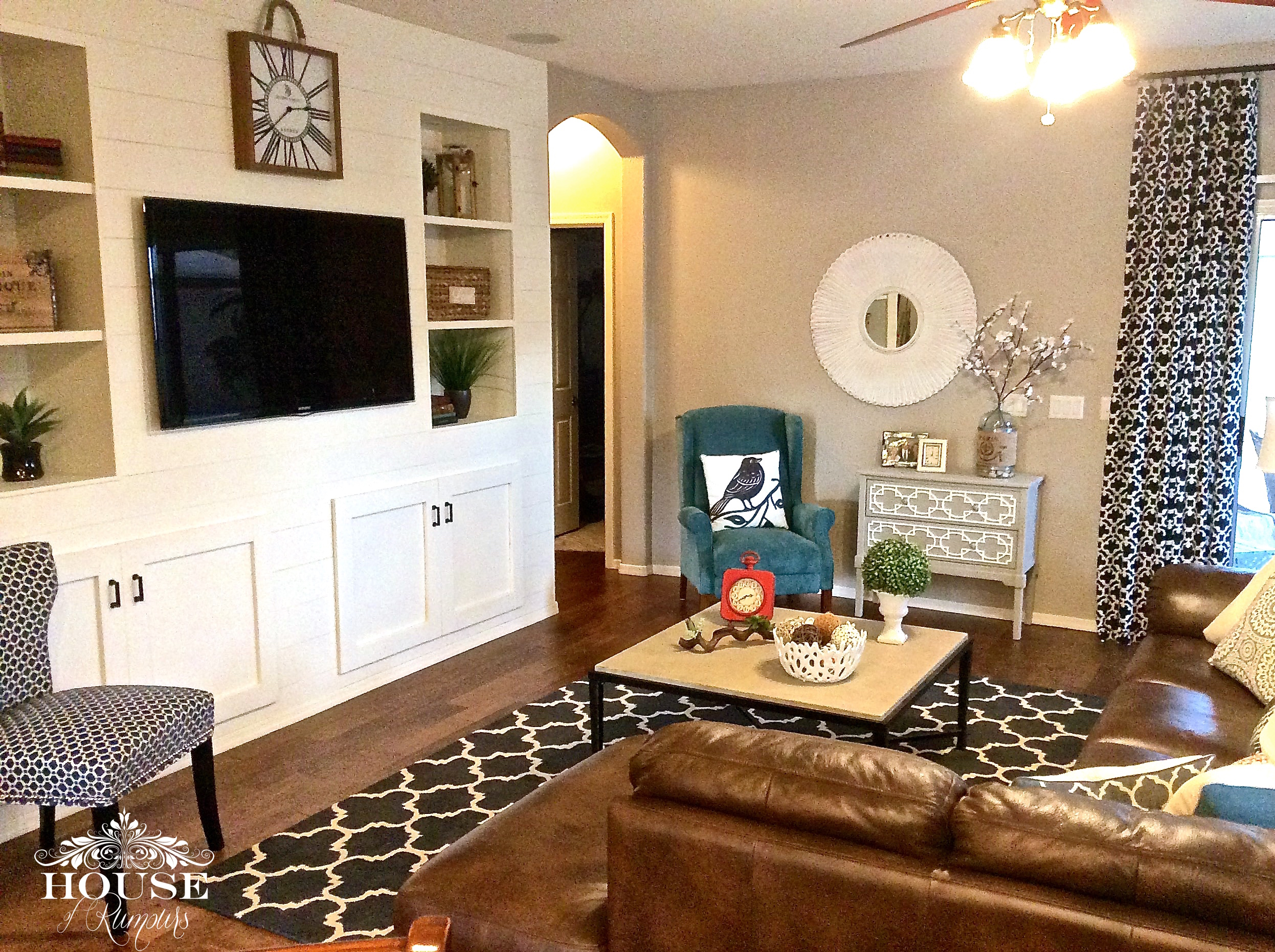 Shiplap Living Amp Dining Room Reveal 187 House Of Rumours